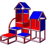 Moveandstic David brombeer blau rot - Kletterturm für Kleinkinder