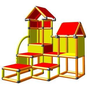 Moveandstic David orange gelb rot - Kletterturm für Kleinkinder