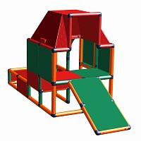 Moveandstic Fabian - Spielhaus orange-rot-grün