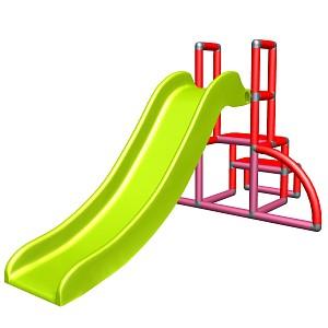 my first Slide Alma Meine erste Rutsche rot magenta apfelgruen Babyrutsche mit Einstiegsset Easy Gartenrutsche MAS Kinderrutsche