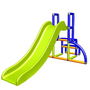 my first Slide Alma Meine erste Rutsche blau orange apfelgruen Babyrutsche mit Einstiegsset Easy Gartenrutsche MAS Kinderrutsche