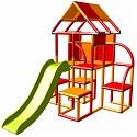 Moveandstic - Lina Spielturm mit Rutsche orange-rot
