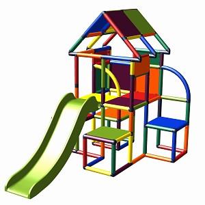 Moveandstic - Lina Spielturm mit Rutsche multicolor