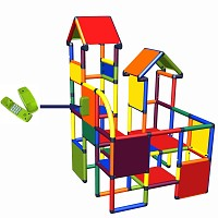 Move and stic - Spiel- und Kletterburg Franz mit Spieltelefon in multicolor