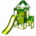 Moveandstic Lisa-großer Turm mit Rutsche apfelgrün-grün