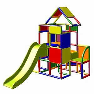 Moveandstic Lisa-großer Turm mit Rutsche multicolor