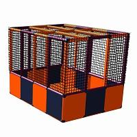 Moveandstic Karl - Ballcenter mit Boden, orange-titangrau-magenta