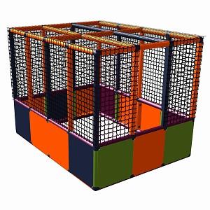 Moveandstic Lucy - Ballcenter ohne Boden, titangrau-apfelgrün-orange