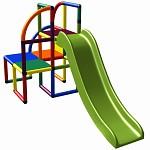 Moveandstic Olaf Spielturm mit Rutsche multicolor