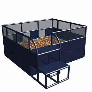 Moveandstic Ballcenter 285x245x125cm  titangrau