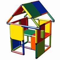 Moveandstic Spielhaus Monte mit Spieltelefon multicolor