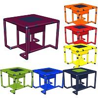 Moveandstic Marie - Tisch mit Ablagefach 85 x 85 x 65 cm