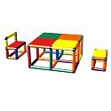 Moveandstic Elias Sitzgruppe mit Tisch und 2 Stühlen multicolor