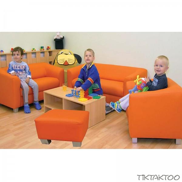 sessel sofa hocker couch chicago sitzgruppe 4teilig kindersofa kindergarten tiktaktoo. Black Bedroom Furniture Sets. Home Design Ideas