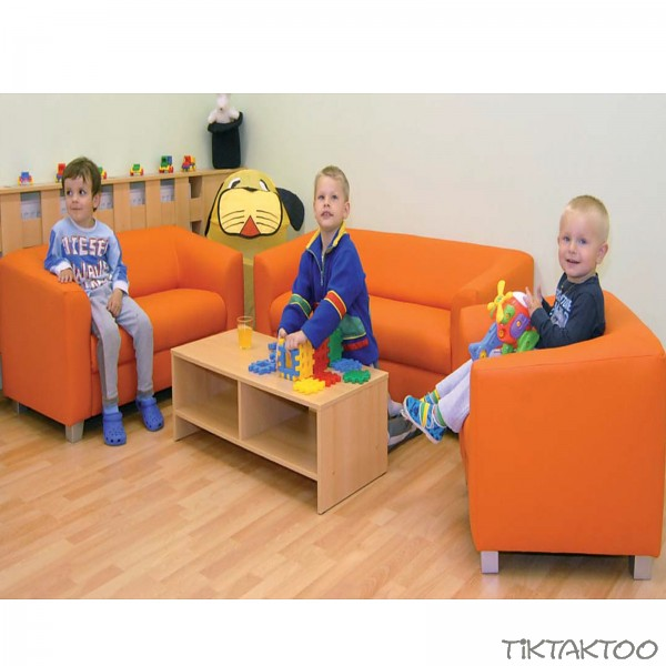 sitzgruppe 3teilig chicago sofa couch kindersofa kindergarten sessel hort ebay. Black Bedroom Furniture Sets. Home Design Ideas