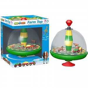 Kreisel Bauernhof mit Sound Panoramakreisel Brummkreisel Bauernhofkreisel