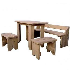 Kinder Sitzgruppe mit Tisch, Hocker und Bank