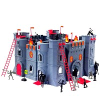 Coole Ritterburg Castle Spielset komplett mit Reitern Pferden Königsburg Schloss
