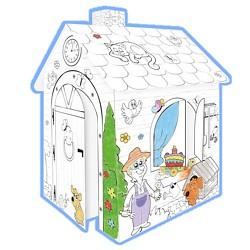 Kartonhaus Spielhaus zum Bemalen
