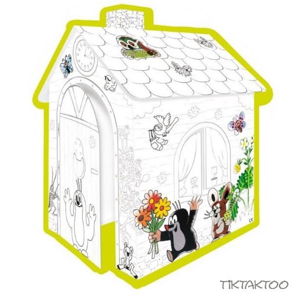 karton spielhaus zum bemalen der kleine maulwurf tiktaktoo. Black Bedroom Furniture Sets. Home Design Ideas