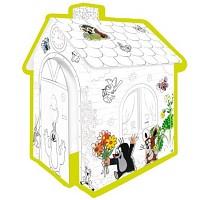 Karton Spielhaus zum Bemalen DER KLEINE MAULWURF