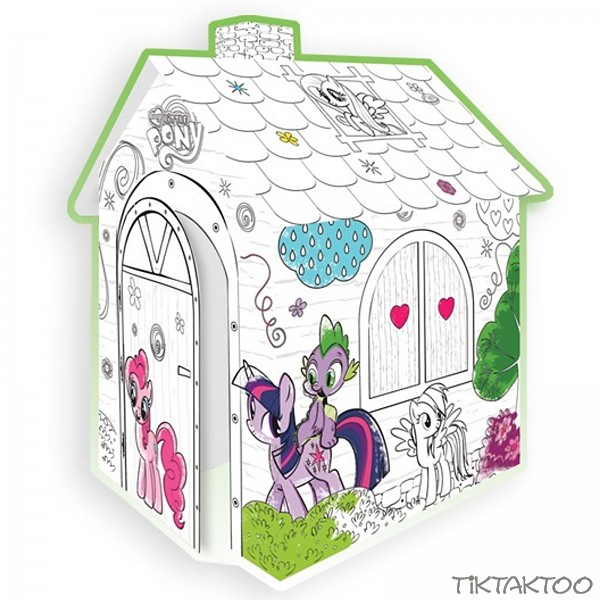 karton spielhaus zum bemalen malhaus my little pony tiktaktoo. Black Bedroom Furniture Sets. Home Design Ideas