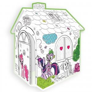 Karton Spielhaus zum Bemalen Malhaus My little Pony