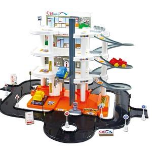 Garage Parkhaus Parkgarage Autogarage 4 Ebenen Aufzug und Spielstraße + Zubehör