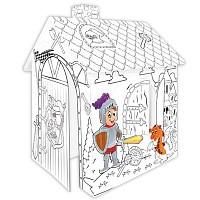 Karton Spielhaus zum Bemalen und Ausmalen für kleine Ritter