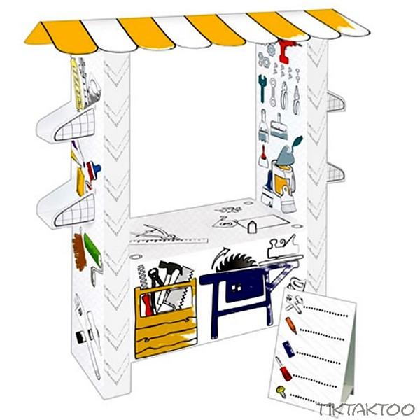 spielhaus aus pappe pappspielhaus haus zum bemalen karton. Black Bedroom Furniture Sets. Home Design Ideas