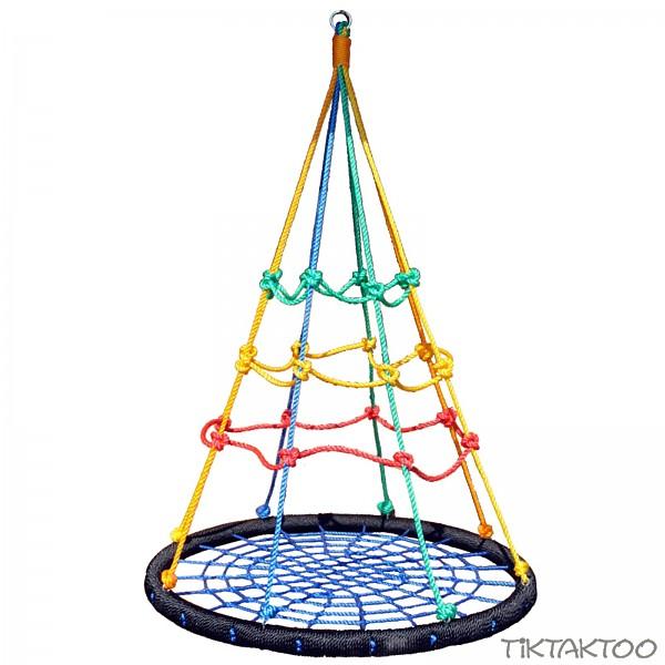 mehrkindschaukel nestschaukel mit kletternetz 100cm tiktaktoo. Black Bedroom Furniture Sets. Home Design Ideas