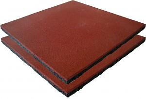 2er Set Fallschutzmatten Gummimatten rot/braun