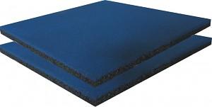 2er Set Fallschutzmatten Gummimatten blau