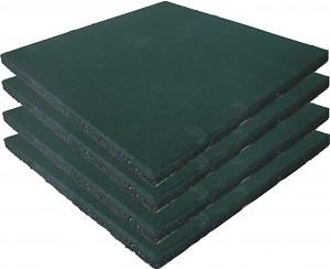 4er Set Fallschutzmatten Gummimatten grün