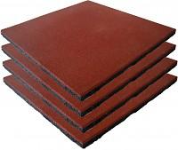 4er Set Fallschutzmatten Gummimatten rot/braun