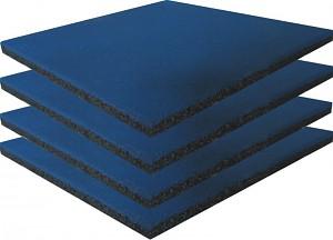 4er Set  Fallschutzmatten Gummimatten blau