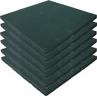 6er Set Fallschutzmatten Gummimatten grün
