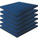 6er Set Fallschutzmatten Gummimatten blau