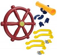 Zubehörset für Spielturm Lenkrad   Fernrohr   4 Handgriffe Sparset Zubehör Set
