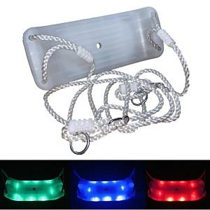 Schaukelsitz aus Kunststoff mit mehrfarbigen LED Licht, nachtleuchtend in grün, blau oder rot einstellbar
