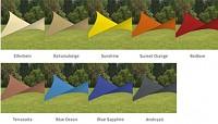 Sonnensegel in vielen verschiedenen Farben