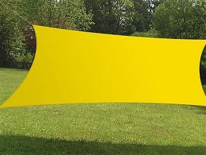 Sonnensegel Rechteck 4x3m in verschiedenen Farben