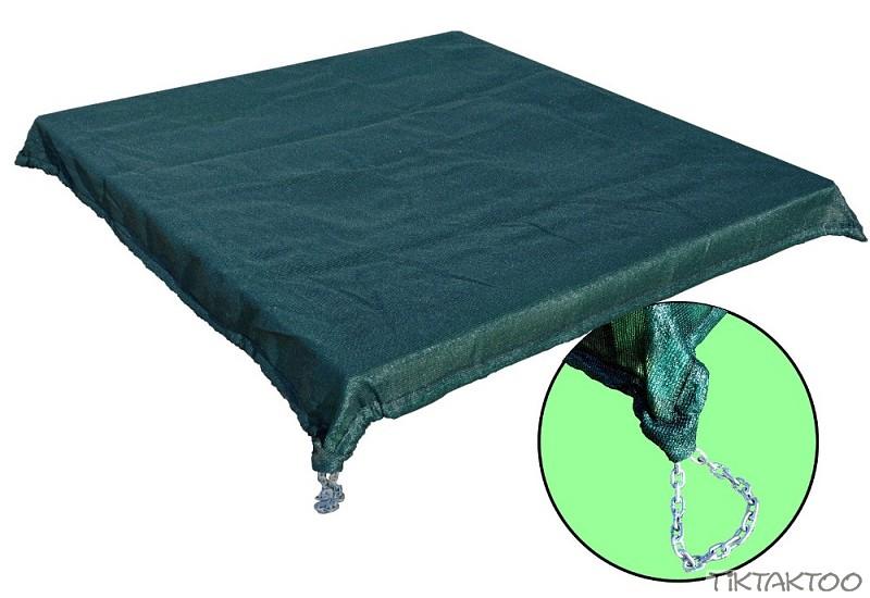 sandkiste sandkasten abdeckung abdeckfolie schutzh lle abdeckplane kette 140 160 ebay. Black Bedroom Furniture Sets. Home Design Ideas
