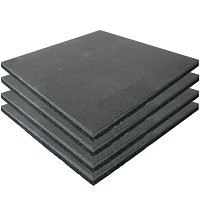 4er Set  Fallschutzmatten Gummimatten grau