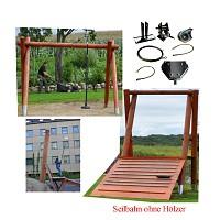Seilbahn Kit 51m ohne Holzgestell