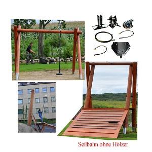 Seilbahn Kit 25m ohne Holzgestell Seilbahnen