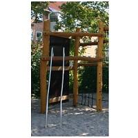 Geländer-oder Rutsch-Stange Edelstahl