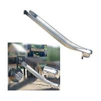 Anbauedelstahlrutsche ohne Ohren 2m hoch Rutsche Anbaurutsche Edelstahlrutsche