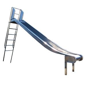 Edelstahl-Rutsche mit Leiter 2 m hoch Rutsche Leiterrutsche