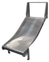 Anbaurutsche Edelstahlrutsche Rutsche Hangrutsche 100cm breit